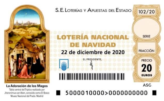 Décimo 00007 del sorteo 102-22/12/2020 Navidad